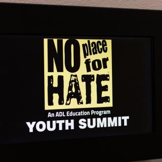 No place for hate youth summit poster